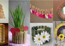 Diy Creative Clothespin Crafts Impress