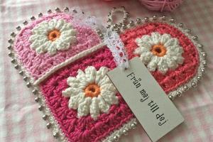 Diy Crochet Valentine Heart Bautawitch Loppis