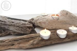 Diy Driftwood Candle Holders Gold Jellybean