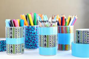 Diy Duck Tape Pencil Holder Art Organizer Giveaway