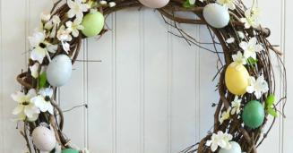 Diy Easter Egg Wreath Hometalk