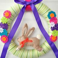 Diy Easter Wreath Craft Maniac
