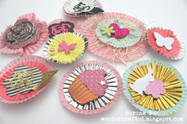 Diy Embellishments Using Cupcake Liners Toothpicks