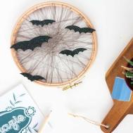 Diy Embroidery Hoop Halloween Art