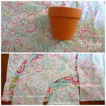 Diy Fabric Planter Pots Painted