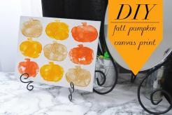 Diy Fall Pumpkin Canvas Print Art Thing Beauty