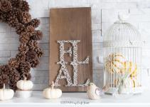 Diy Fall String Art Sustain Craft Habit 1737