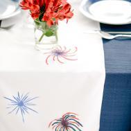 Diy Fireworks Table Runner Let Mingle Blog