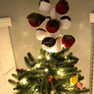 Diy Flock Birds Christmas Tree Topper Charleston Crafted