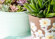 Diy Flower Pot Design Floral Drape Stencil Altenew Blog