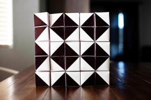 Diy Geometric Advent Calendar Blocks All Boys