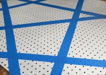 Diy Geometric Stitched Pegboard