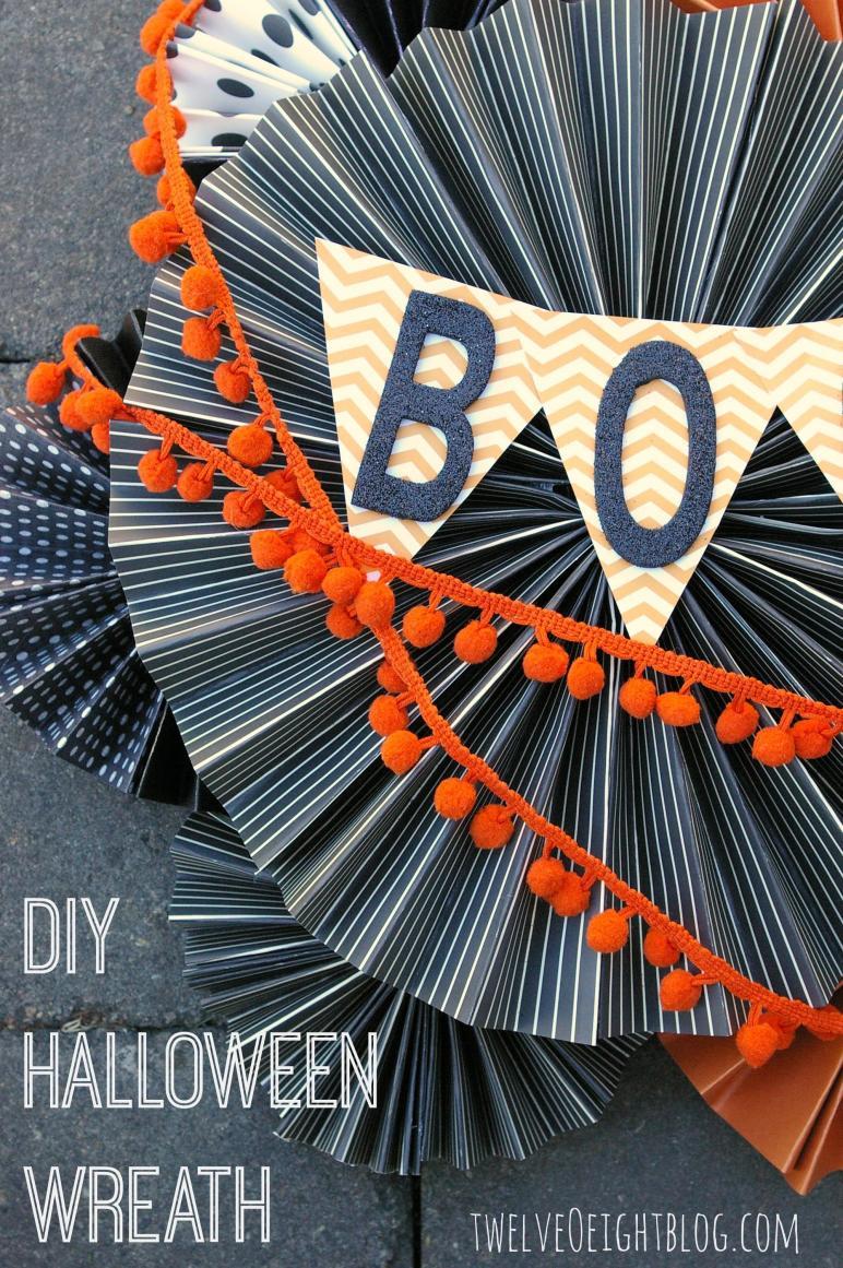 Diy Halloween Boo Wreath
