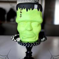 Diy Halloween Decor Make Frankenstein Pedestal