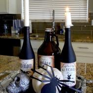 Diy Halloween Decorations Using Empty Wine Bottles