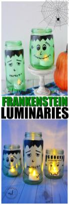 Diy Halloween Luminaries Frankenstein Mason Jar Tutorial