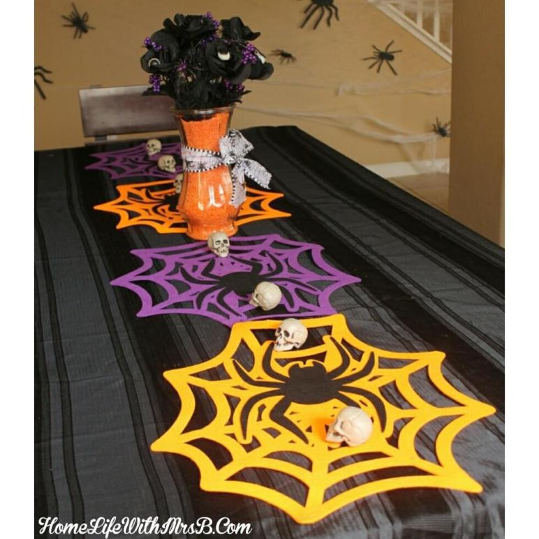 Diy Halloween Minute Table Runner Home Life Mrs