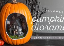 Diy Halloween Pumpkin Diorama Photos