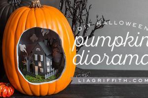 Diy Halloween Pumpkin Diorama Photos