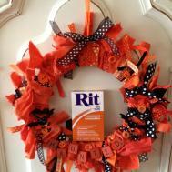 Diy Halloween Rag Wreath Rit Dye