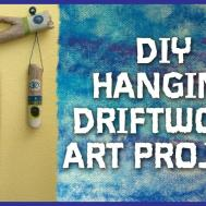 Diy Hanging Driftwood Art Project Marbles Paint