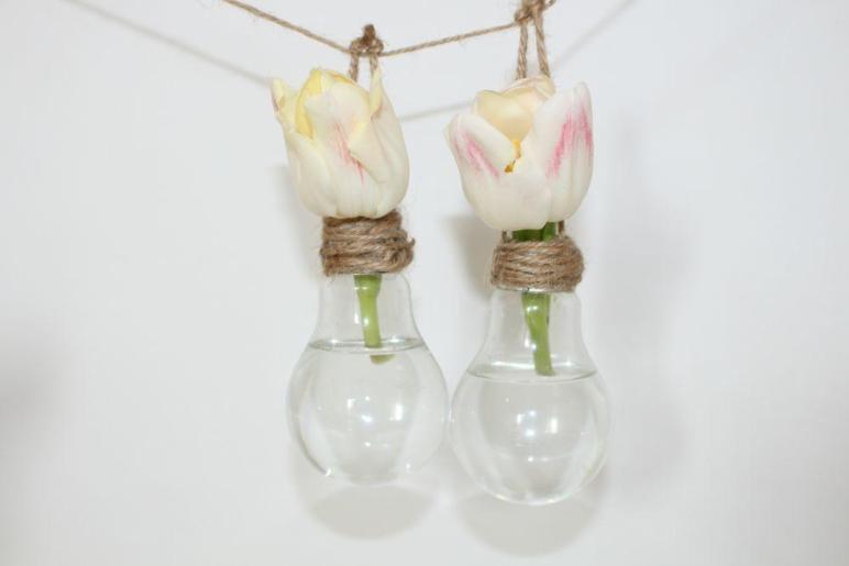 Diy Hanging Vase Light Bulb