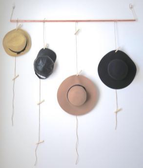 Diy Hat Rack Minimalist Melissa Perkins