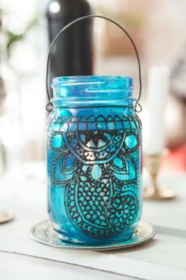 Diy Henna Lantern Boat People Vintage Style Art
