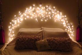 Diy Icicle Light Faux Headboard