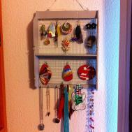 Diy Jewelry Holder Made Vintage Spice Rack