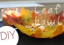 Diy Leaf Bowl Fall Home Decor