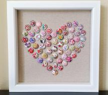 Diy Liberty Fabric Button Push Pin Art Tutorial Mad