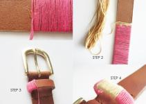Diy Make Thread Wrapped Belt