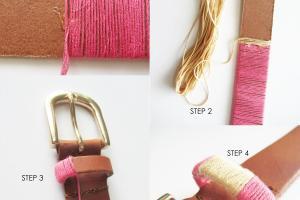 Diy Make Thread Wrapped Belt