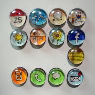 Diy Marble Magnets Tapioca
