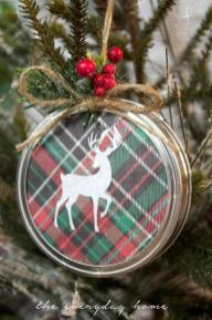 Diy Mason Jar Lid Christmas Ornament Everyday Home