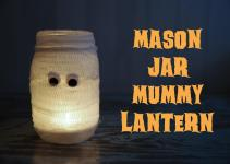 Diy Mason Jar Mummy Lantern Rambling Renovators