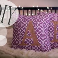 Diy Monogrammed Cute Pillowcases Sew