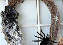 Diy Ombre Halloween Spider Wreath