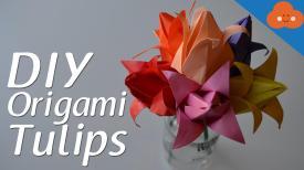 Diy Origami Tulips