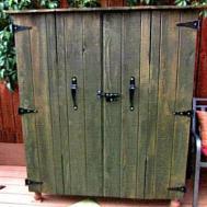 Diy Outdoor Cabinet Rustic Cabinets Doors
