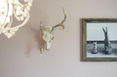 Diy Painted Antler European Mount Gold Flake