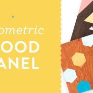Diy Painted Geometric Wood Panel Wall Art Tutorial