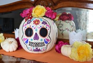 Diy Painted Pumpkin Muertos Halloween