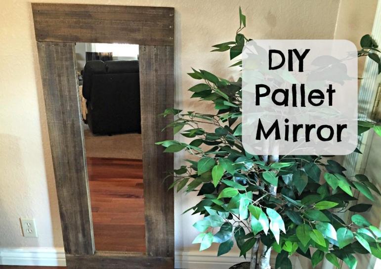 Diy Pallet Framed Mirror