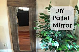 Diy Pallet Framed Mirror