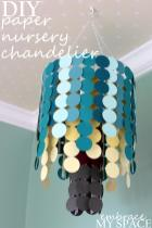 Diy Paper Nursery Chandelier Project