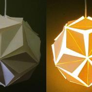 Diy Pendant Lamp Lantern Petals Home Room Decor