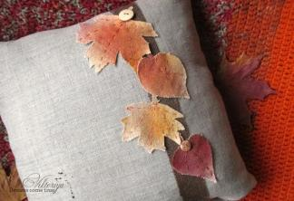 Diy Pillow Covers Painted Autumn Leaves