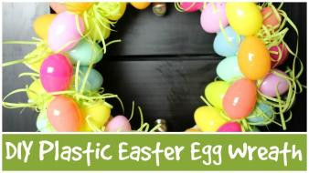 Diy Plastic Easter Egg Wreath Allie Young